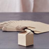 24 x Pralinenschachtel Kraftpapier