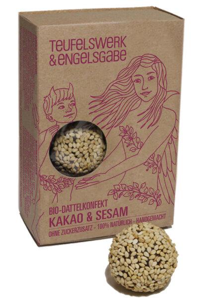 Bio Dattelkonfekt Kakao & Sesam 84g