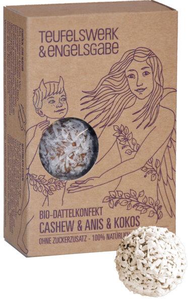 Bio Dattelkonfekt Cashew & Anis & Kokos 84g