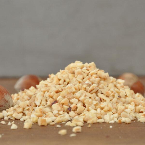 Bio Haselnüsse, gehackt, geröstet 500g